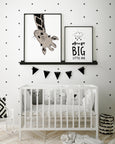 Hello Little One Giraffe Print - With Muted Colours - Pretty in Print Art