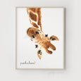 Hello Little One Giraffe Print - PEEKABOO! - Pretty in Print Art