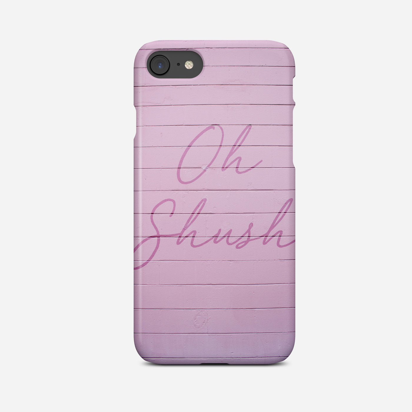 Oh Shush Pink Phone Case - Pretty in Print Art