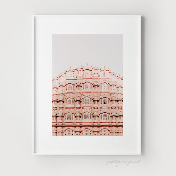 Pink Palace, Jaipur | Travel Photography | Travel Art - Pretty in Print Art
