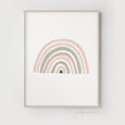 Rainbow Print | Rainbow Nursery Decor | Blush Pink & Sage Green