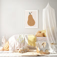 Pear Nursery Art | Fruit Decor | Scandi Pear Print
