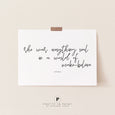 Atticus Quote | She was everything real in a world of make-believe | Typography | Wall Art Poster