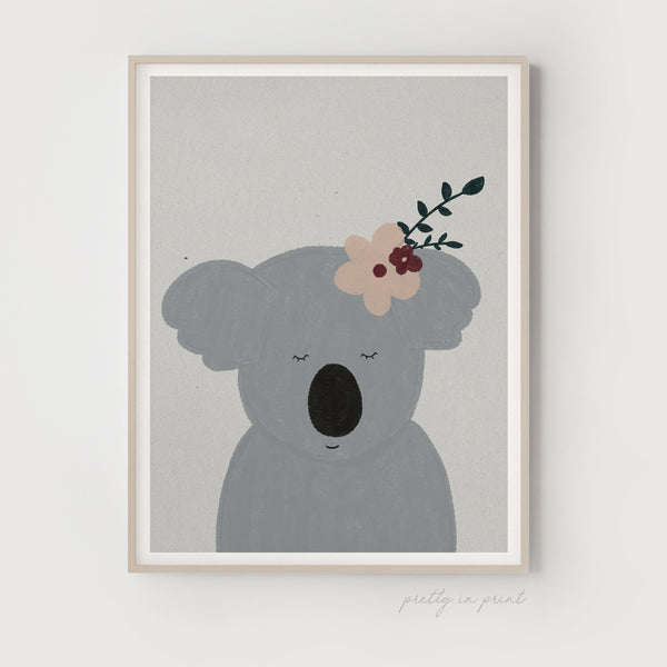 Sleepy Animal Nursery Decor - Koala Bear