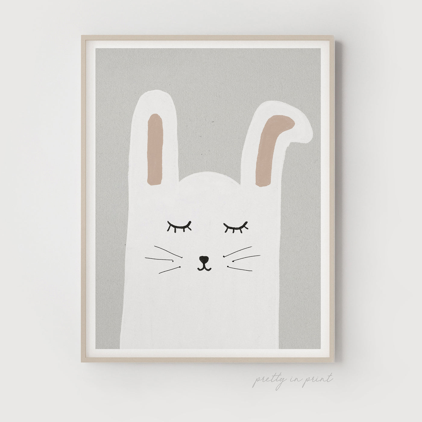 Sleepy Animal Nursery Decor - Bunny Rabbit