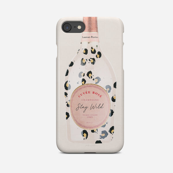 Laurent Perrier Champagne | Leopard Print Phone Case | Stay Wild - Pretty in Print Art