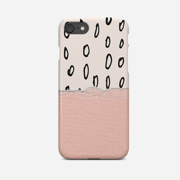 Paper Doodle Pink Phone Case - Pretty in Print Art
