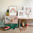 Colourful Rainbow Print | Rainbow Nursery Decor | Scandi Kids Room Decor