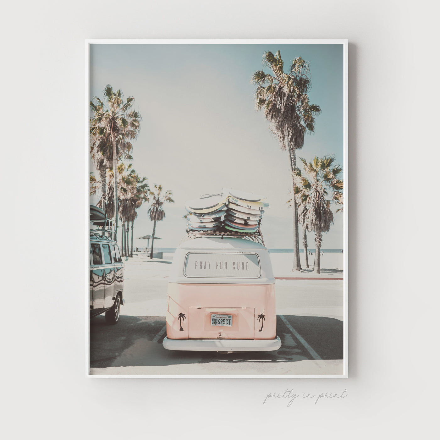 Pray For Surf | VW Camper Van Print - Pretty in Print Art