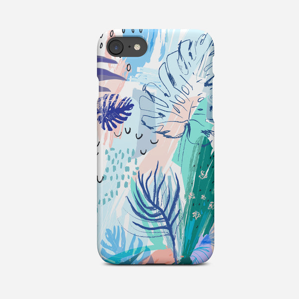 Tropical Abstract Art Phone Case - Pretty in Print Art