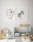 Zipadee Doo-Dah Zipadee Day Quote | Nursery Art | Multi-coloured - Pretty in Print Art