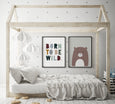 Sleepy Animal Nursery Decor - Bear