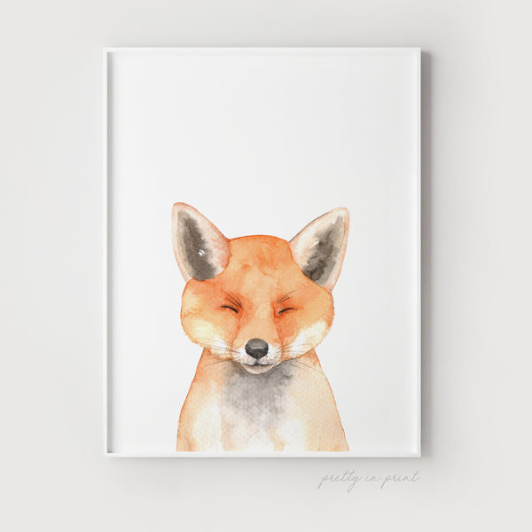 Nursery Fox Print - Non-Floral Version - Pretty in Print Art