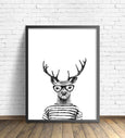 Hipster Animal Print | Deer Without Pipe - Pretty in Print Art