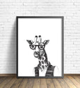 Hipster Animal Print | Giraffe Without Pipe - Pretty in Print Art