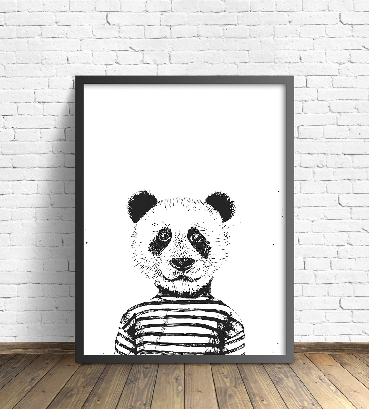 Hipster Animal Print | Panda Without Pipe - Pretty in Print Art