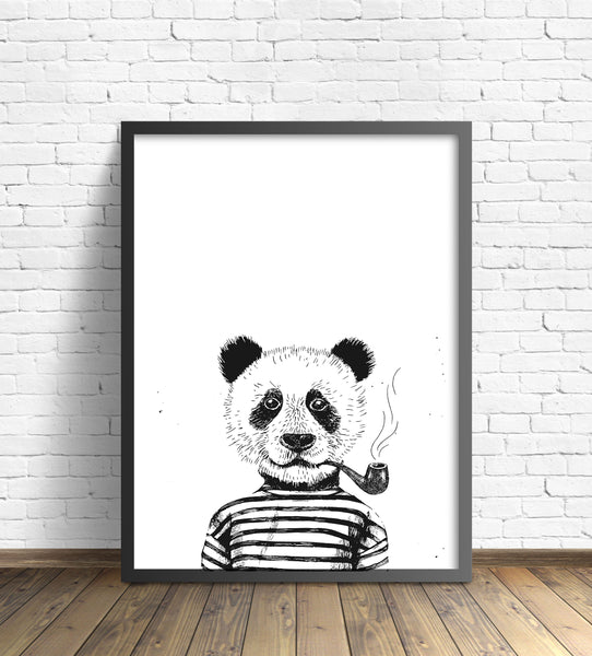 Hipster Animal Print | Panda - Pretty in Print Art