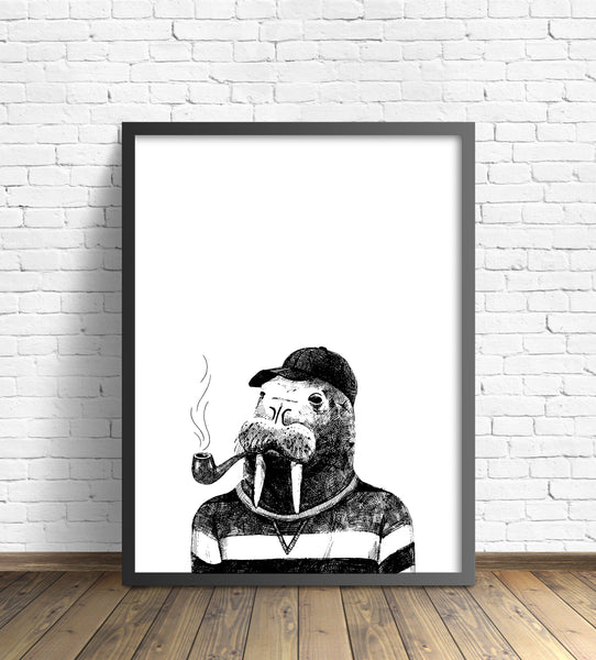 Hipster Animal Print | Walrus - Pretty in Print Art