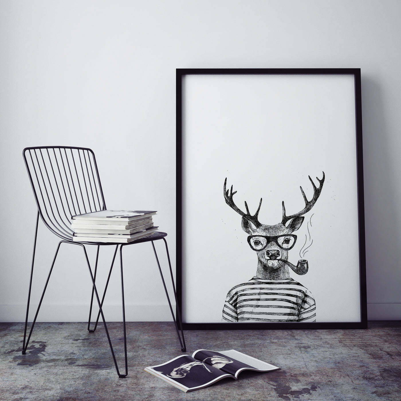 Hipster Animal Print | Deer - Pretty in Print Art
