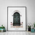 Green Door Travel Print - Pretty in Print Art