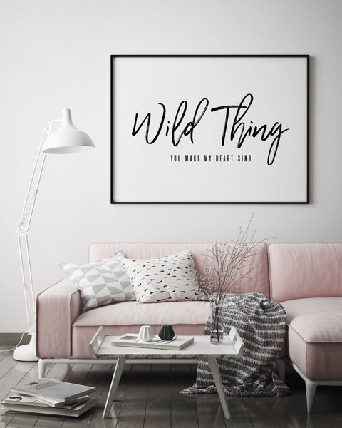 Wild Thing Quote | Wild Thing Print - Pretty in Print Art