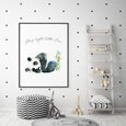 Panda Print - Sleep Tight Little One - Pretty in Print Art