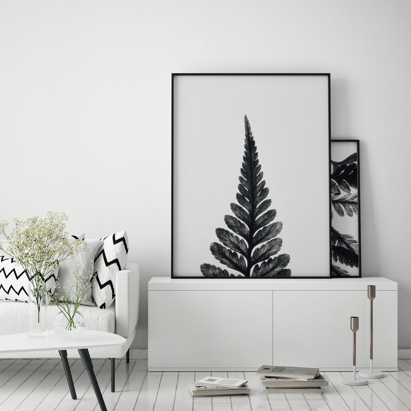 Botanical Fern Print II | Black & White Photography - Pretty in Print Art