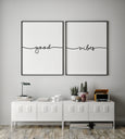 Good Vibes | Set of Two - Pretty in Print Art