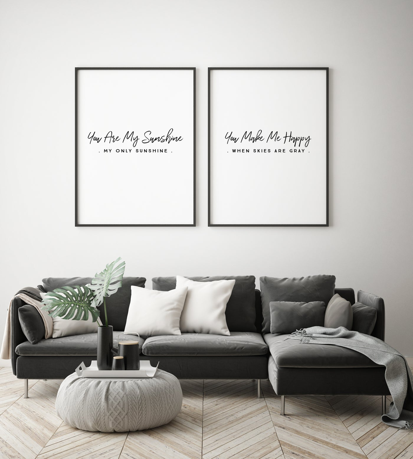 You Are My Sunshine Quote | Set of Two - Pretty in Print Art