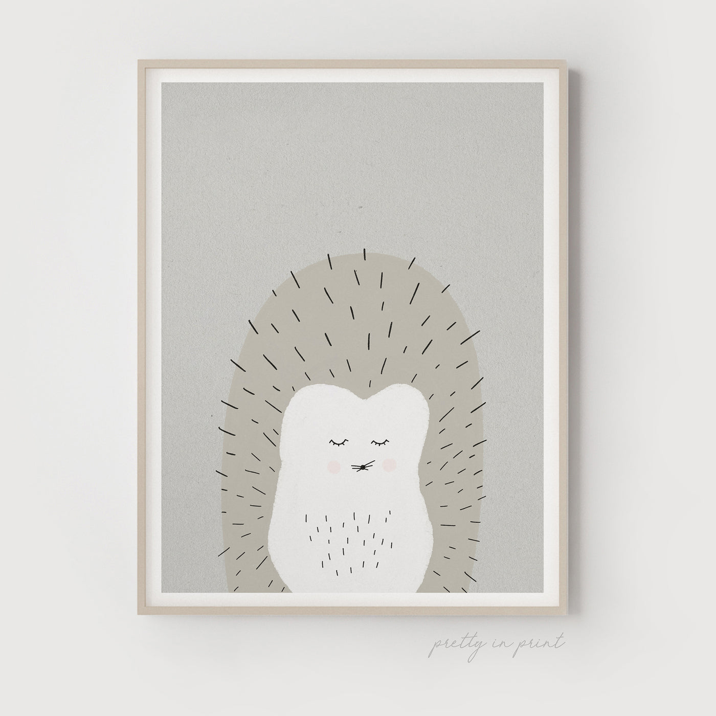 Sleepy Animal Nursery Decor - Hedgehog