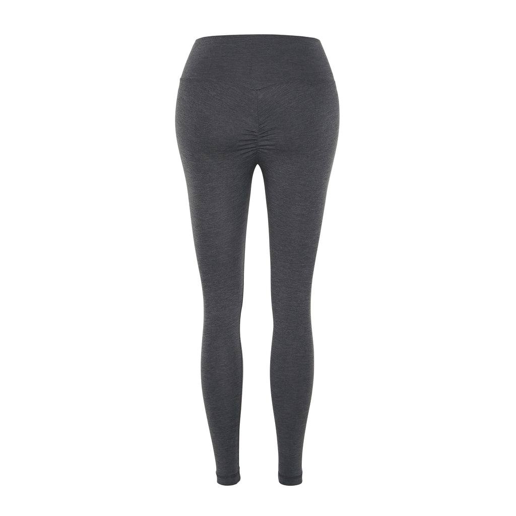 butt-sculpting, curve sculpting leggings, smooth yoga leggings, ruched leggings, butt hugging leggings, bum scrunch leggings, grey smooth yoga leggings, Instagram leggings