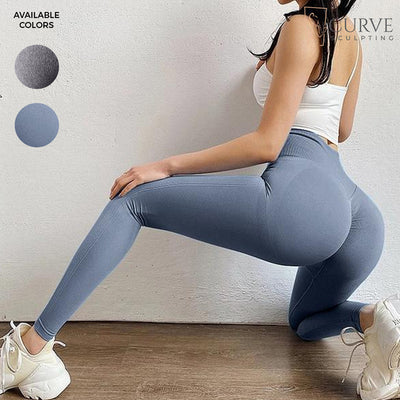 butt-sculpting, blue curve sculpting leggings, compression leggings, ruched leggings, butt hugging leggings, bum scrunch leggings, blue compression leggings, Instagram leggings, scrunch bum leggings