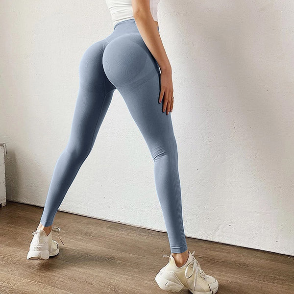 butt-sculpting, curve sculpting leggings, compression leggings, ruched leggings, butt hugging leggings, bum scrunch leggings, blue compression leggings, Instagram leggings