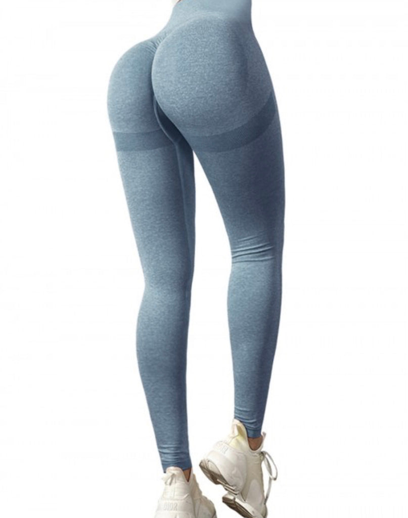 curve sculpting leggings, compression leggings, ruched leggings, butt hugging leggings, bum scrunch leggings, blue compression leggings, Instagram leggings