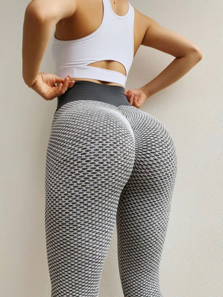 curve sculpting leggings, butt-scrunch leggings, ruched leggings, butt hugging leggings, bum scrunch leggings, grey fishnet leggings, Instagram leggings