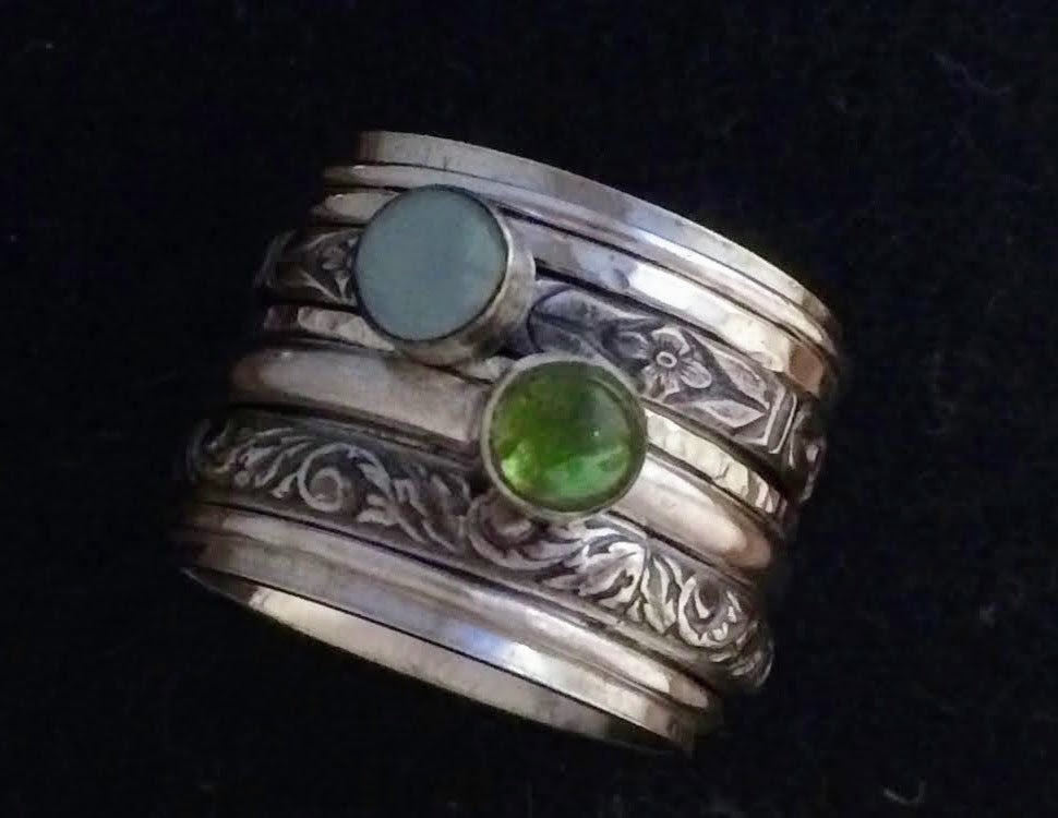 Spinner Ring with Stones