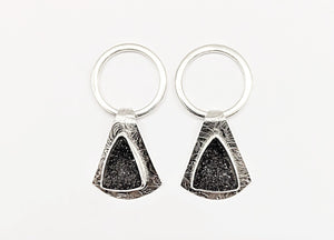 Triangle Druze Earrings