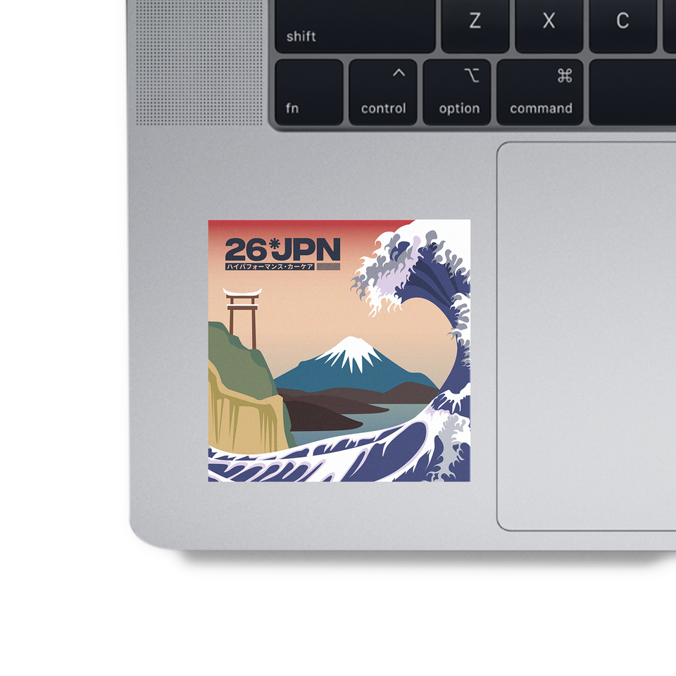 The Great Wave Sticker on MAC