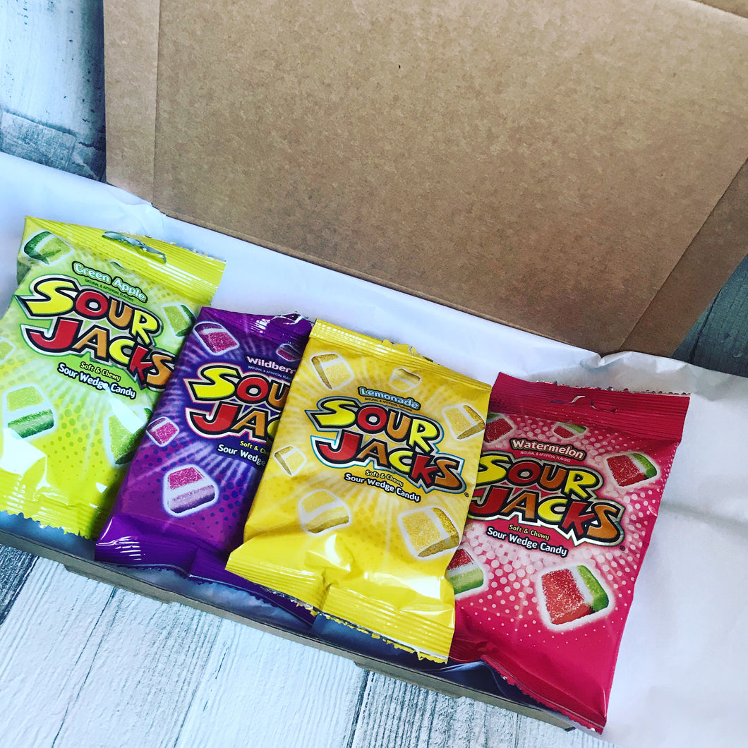 American Sweets Candy Sour Jacks Mix Gift Box
