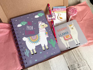 Llama Notebook pre filled Gift Box