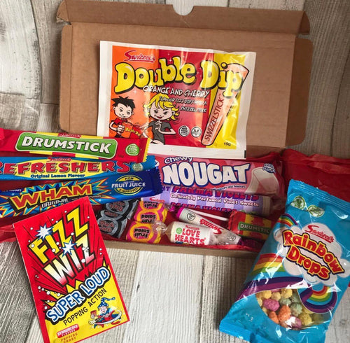 Retro Sweets Midi Gift Box Letterbox Friendly