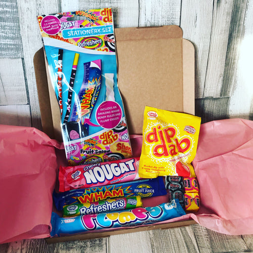 Retro Sweets Themed Gift Box Stationery Set
