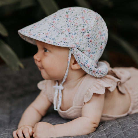 Bedhead Hats Baby Flap Hat in Savannah UPF 50+ Toddler Hat Heritage Collection