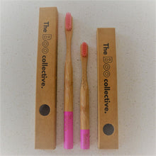 Load image into Gallery viewer, Bamboo Toothbrush The Boo Collective Adult Child Pink