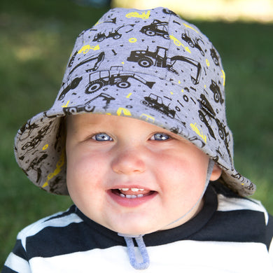 Bedhead Hats Baby Bucket Hat Diggers Toddler Hat UPF 50+