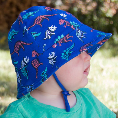 Bedhead Hats Baby Bucket Hat Fossils Dinosaurs Toddler Hat UPF 50+