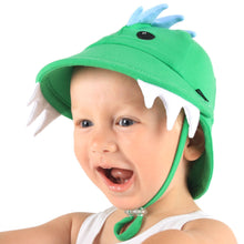 Load image into Gallery viewer, Bedhead Hats Legionnaire Dinosaur Green Baby Hat Toddler Hat UPF 50+