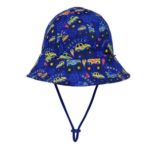 Bedhead Hats Toddler Bucket Monster Trucks
