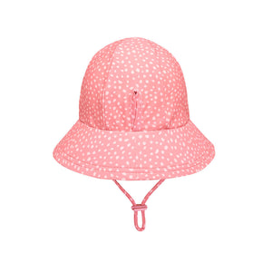 bedhead beach ponytail hat in pink spots