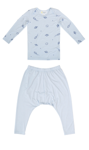 Bamboo Long Sleeve PJ Set - Blue Space